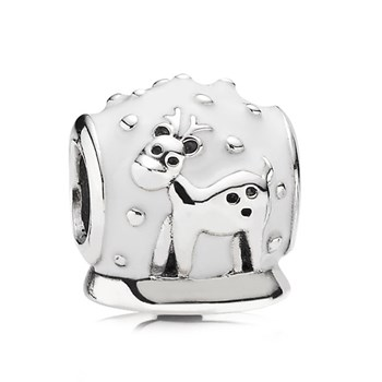 344358-PANDORA Snow Globe with White Enamel Charm
