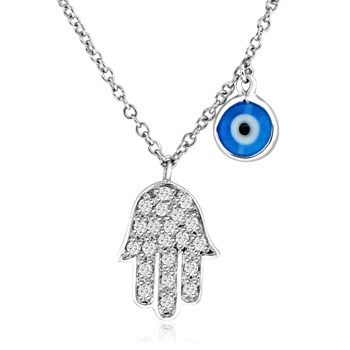 Hamsa & Evil Eye Necklace-347355