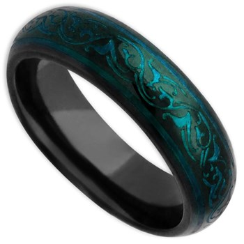 -Edward Mirell Men's Rain Titanium Ring