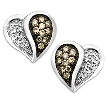 Diamond Heart Earrings-320894