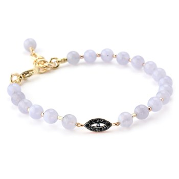 345888-Lollies Blue Lace Agate Evil Eye Bracelet
