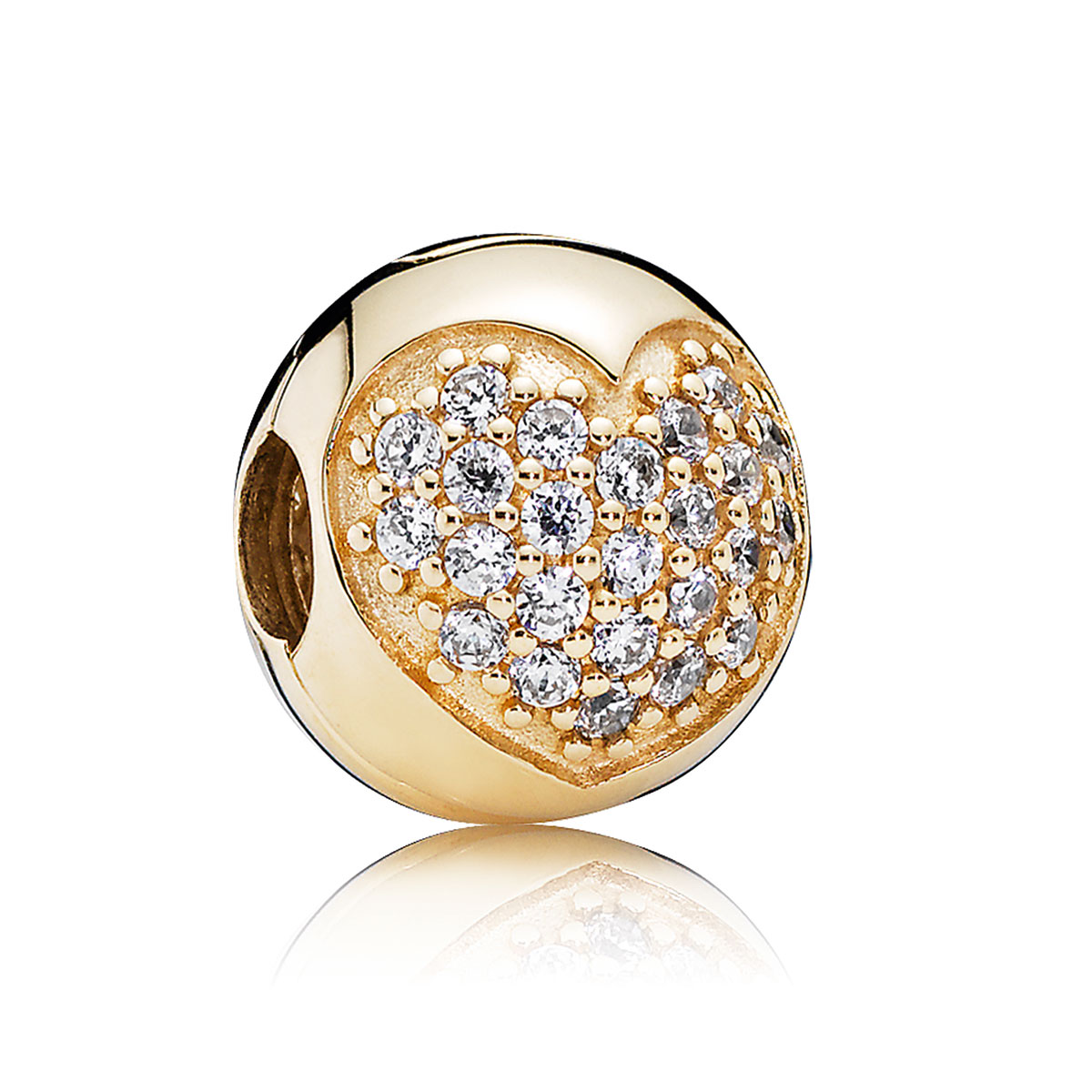 802-2838-PANDORA 14K Love of My Life with Clear CZ Clip