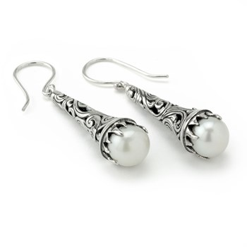 Pearl Openwork Earrings-645-3185