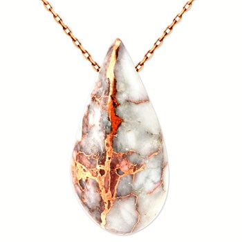 Copper in Quartz Pendant-343393