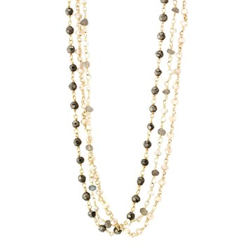 Layered Triple Strand Necklace-235-507