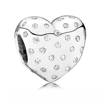 PANDORA Sparkle of Love Heart with Clear CZ Charm-346974