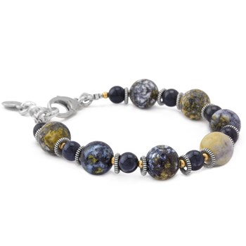Ocean Jasper and Dumortierite Bracelet