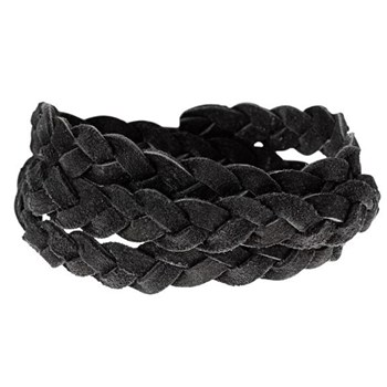 STORY by Kranz & Ziegler Triple Wrap Black Braided Suede Bracelet RETIRED ONLY 4 LEFT!