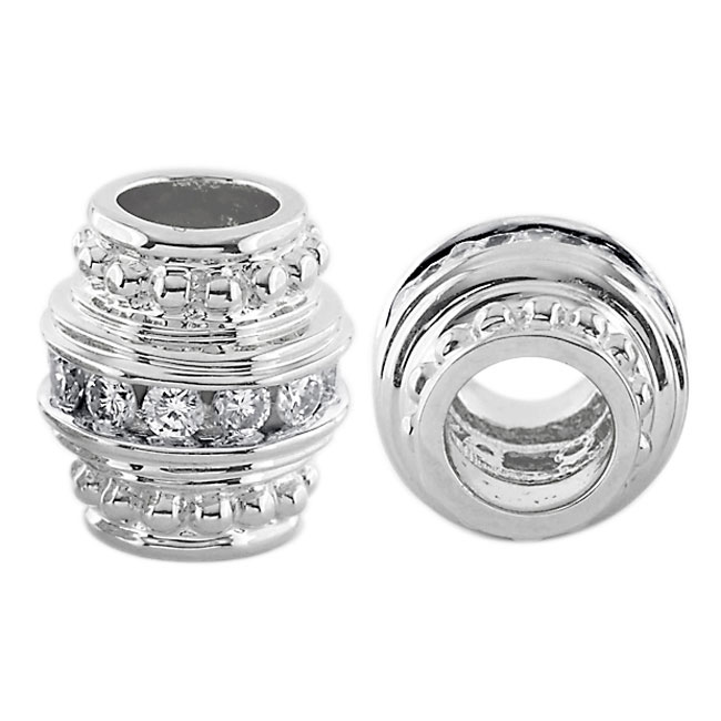 300995-Storywheels Barrel with Diamond Spacer 14K White Gold Wheel ONLY 3 AVAILABLE!