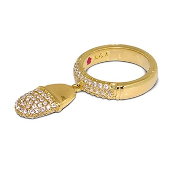 Yellow Gold 'Classic Charm' Ring-343248