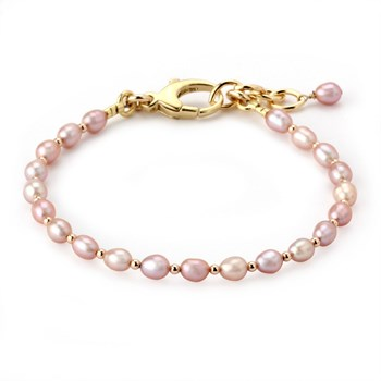 344952-Lollies Breast Cancer Awareness Pink Pearl Bracelet
