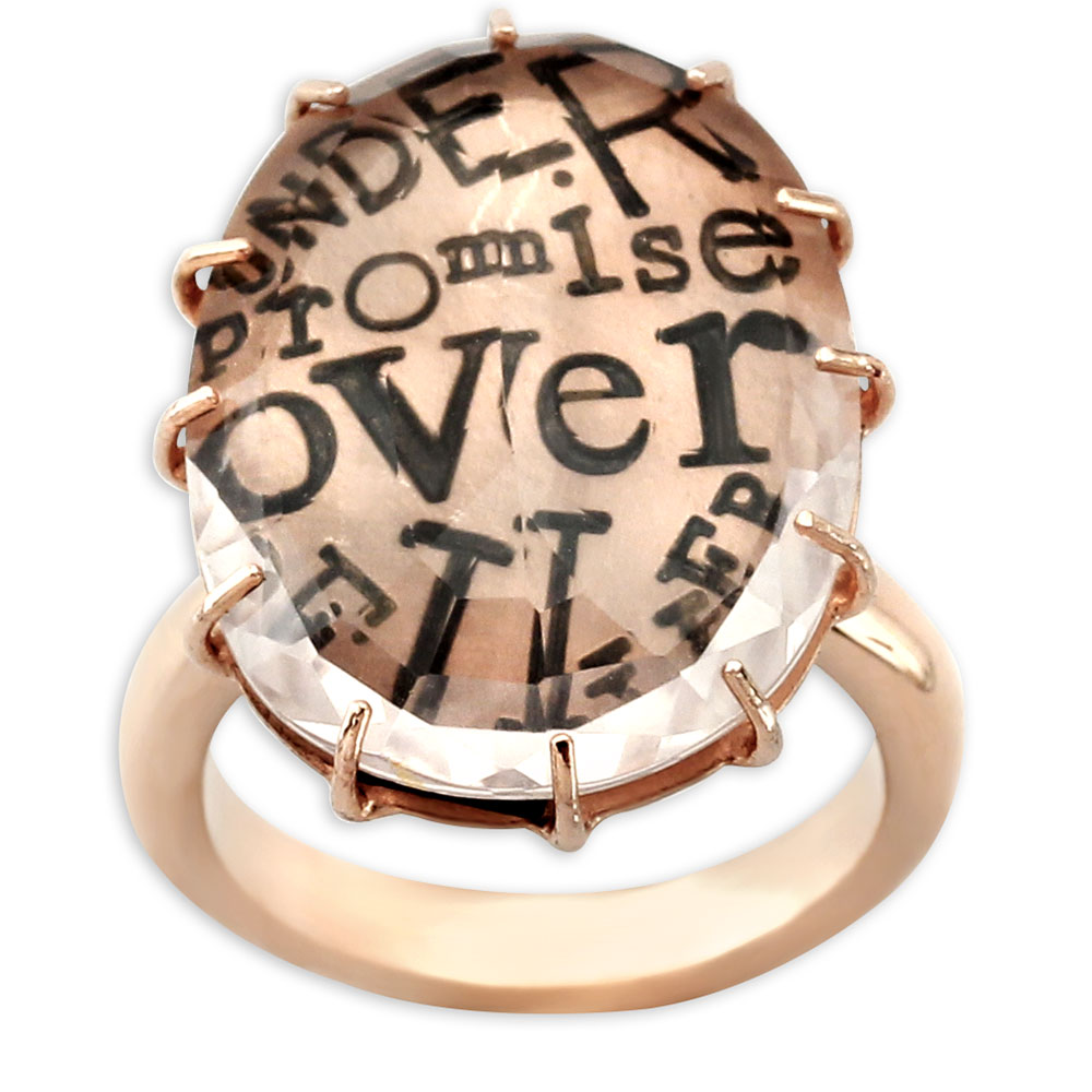 "341307-Heather Moore ""Under Promise-Over Deliver"" White Topaz and Rose gold Ring"