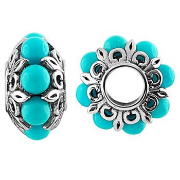 Storywheels Turquoise Sterling Silver Wheel-333694