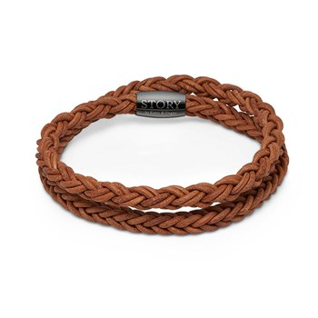 STORY by Kranz & Ziegler Double Wrap Light Brown Braided Leather PRE-ORDER