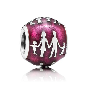 348022-PANDORA Family Bonds with Violet Enamel Charm