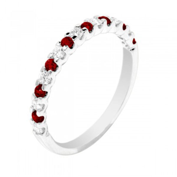 348311-Ruby and Diamond Eternity Ring