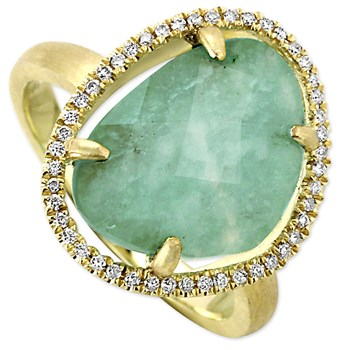 Amazonite & Diamond Ring-342305