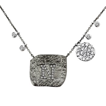 "Diamond ""N"" Necklace-344785"