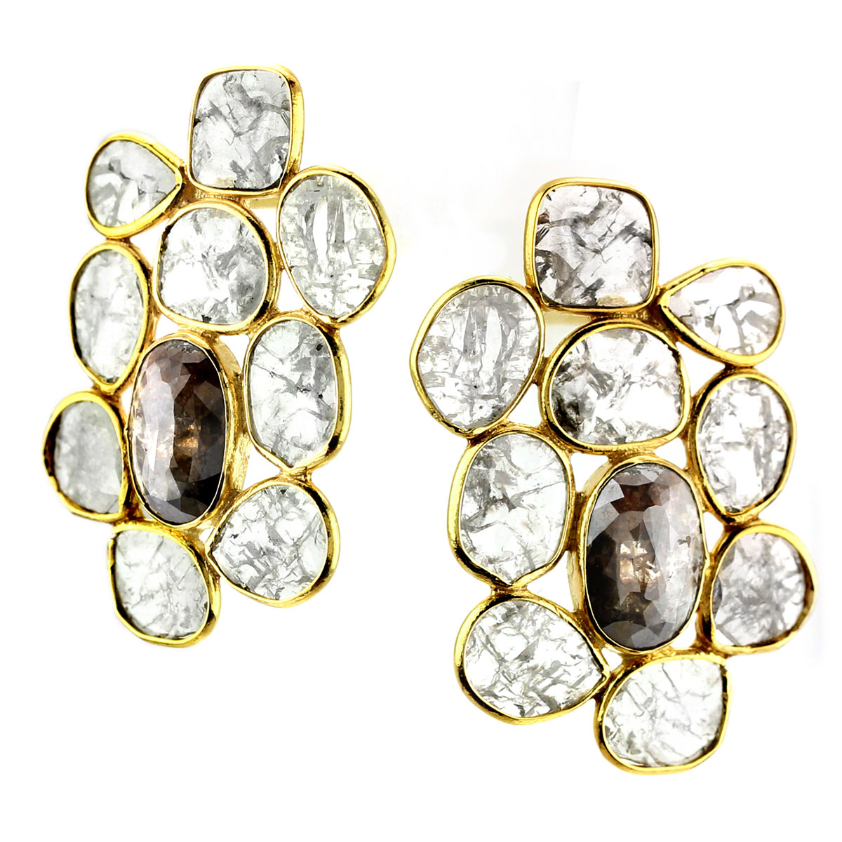341251-Raw Diamond Earrings