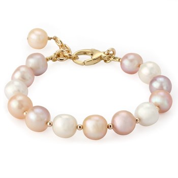 344954-Lollies Breast Cancer Awareness Pearl Bracelet
