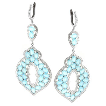 347211-Ocean Chalcedony Earrings