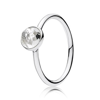 PANDORA April Droplet with Rock Crystal