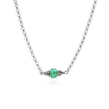 Emerald Petite Necklace