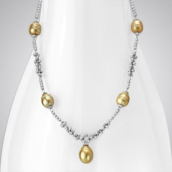 340976-Pearl & SS Necklace