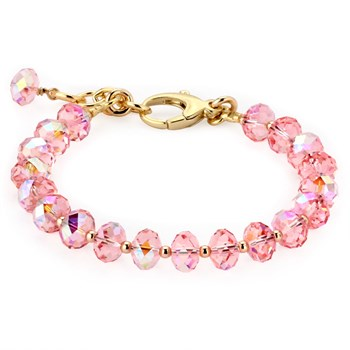 Lollies Breast Cancer Awareness Pink Swarovski Bracelet-344953