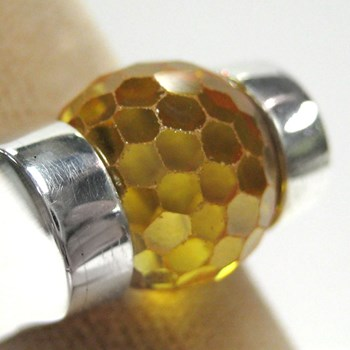 Faceted Citrine CZ Ball-171779