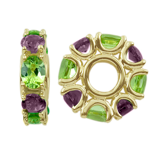 303699-Storywheels Amethyst & Peridot 14K Gold Wheel ONLY 2 AVAILABLE!