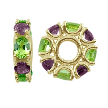 Storywheels Amethyst & Peridot 14K Gold Wheel ONLY 2 AVAILABLE!-303699