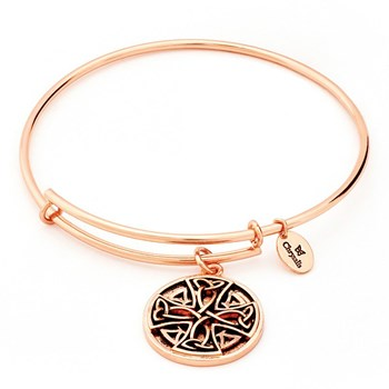 Celtic Cross Rose Gold Bangle