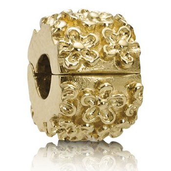 PANDORA 14K Golden Flower Clip-336120