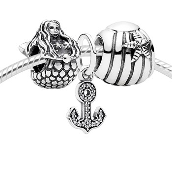 3545-PANDORA Mermaid Song Charm Set