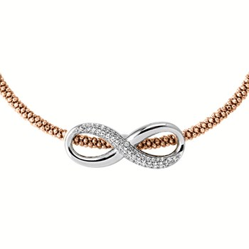 Pink Infinity Necklace-344924