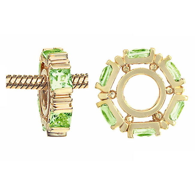 265669-Storywheels Peridot Small Princess Cut 14K Gold Wheel RETIRED ONLY 1 LEFT!