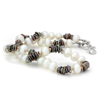 Pearl & Keishi Pearl Necklace-325-239