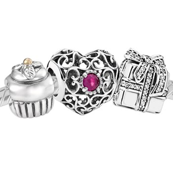 3384-PANDORA Happy July Birthday Set