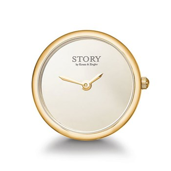 STORY by Kranz & Ziegler Gold-Plated Iconic Clock Button RETIRED