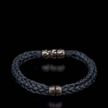 665-3-William Henry Black Kevlar Bracelet