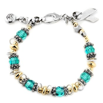 Ovarian/Cervical/Uterine Cancer Awareness Bracelet-179287