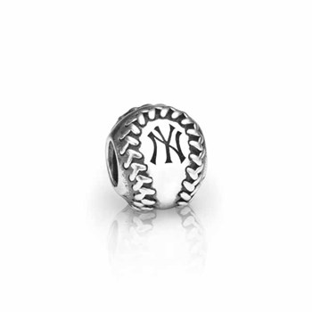 PANDORA New York Yankees Baseball Charm RETIRED LIMITED QUANTITIES!-346623