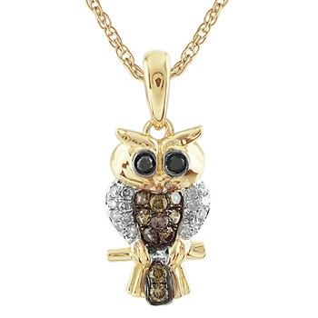 Owl Diamond Pendant-341547