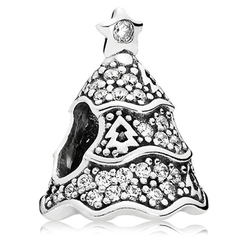 PANDORA Twinkling Christmas Tree with Clear CZ Charm 802-3130