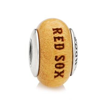 345548-PANDORA Boston Red Sox Baseball Wood Charm RETIRED