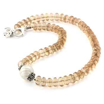 Freshwater Pearl & Citrine Necklace-346329