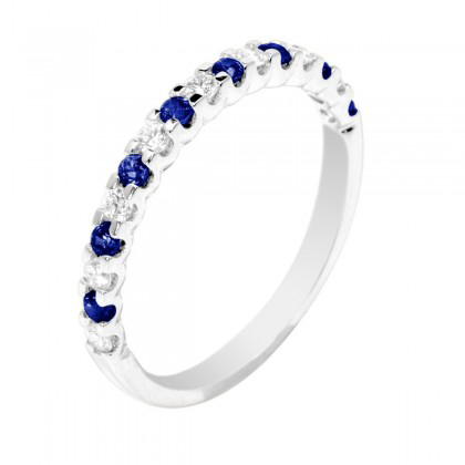 347464-Blue Sapphire and Diamond Eternity Ring