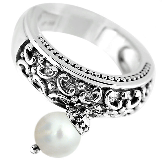 White Pearl Ring ONLY 1 LEFT!