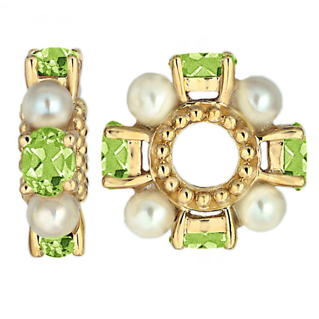 262736-Storywheels Peridot & Pearl 14K Gold Wheel ONLY 5 AVAILABLE!